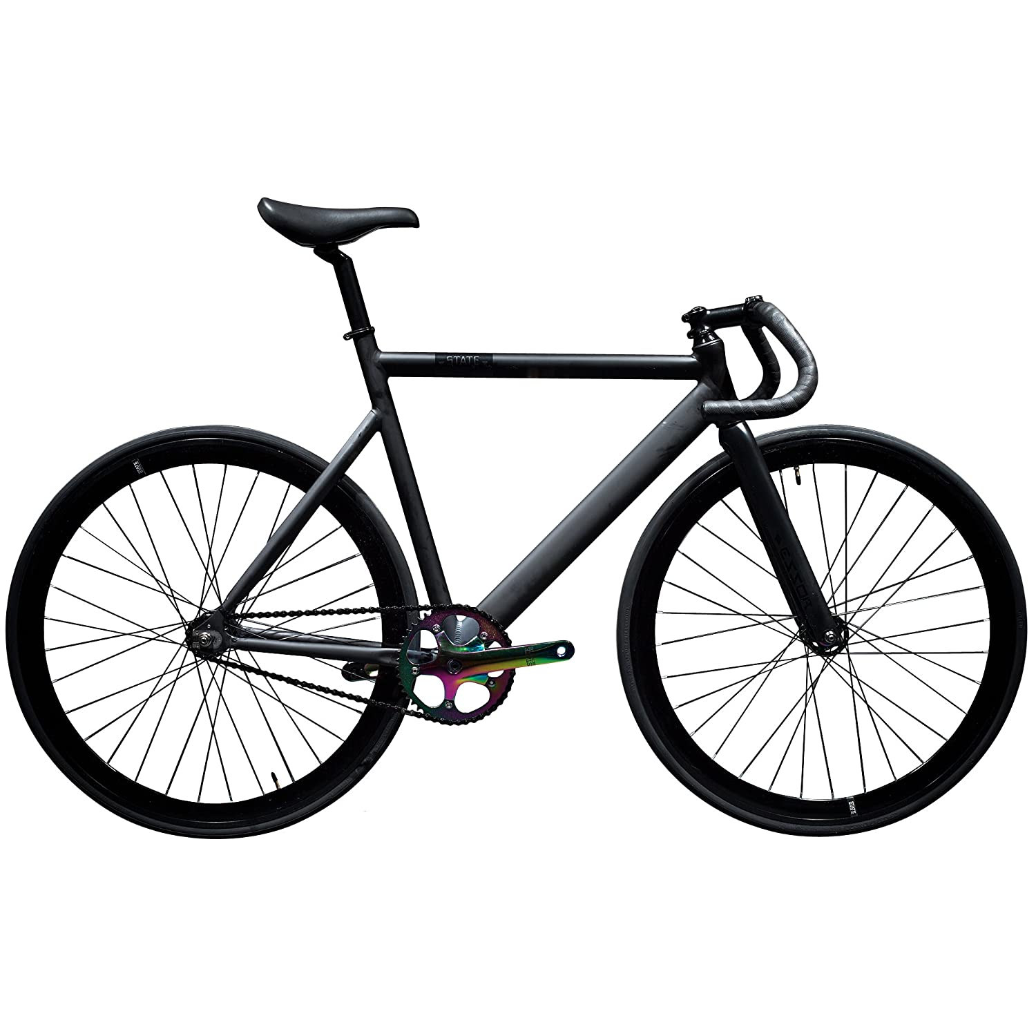 Amazon State Bicycle Black Label 6061 Aluminum Fixed Gear Bike Sports & Outdoors