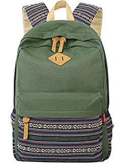 2012180f884 Mygreen Casual Style Lightweight Canvas Backpack School Bag Travel Daypack