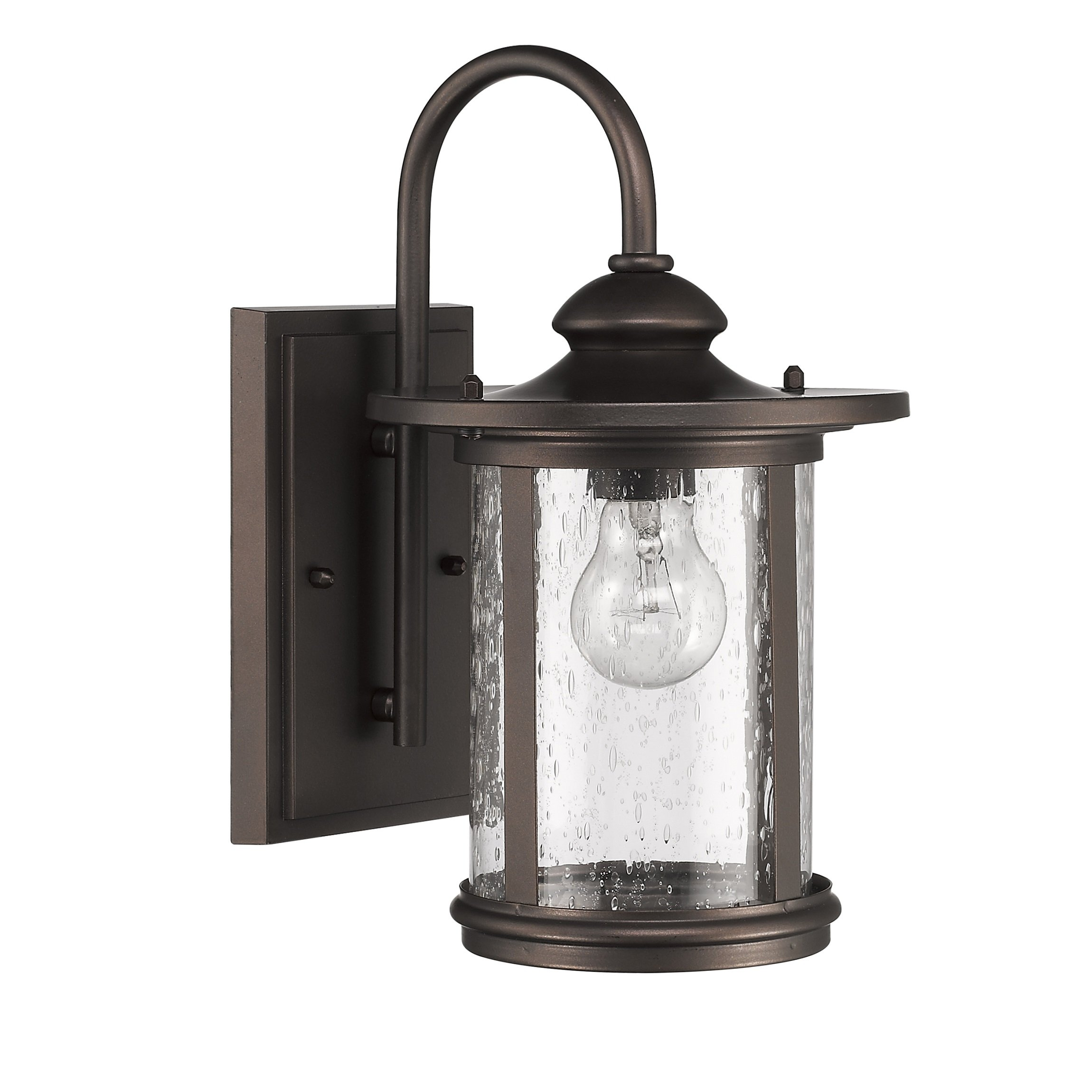 Chloe Lighting CH22026RB13-OD1 Cole Transitional 1-Light Outdoor Wall Sconce, 13'', Rubbed Bronze