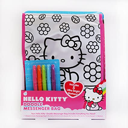 Image Unavailable. Image not available for. Color  Hello Kitty Doodle  Messenger Bag 79b47a316bd4f