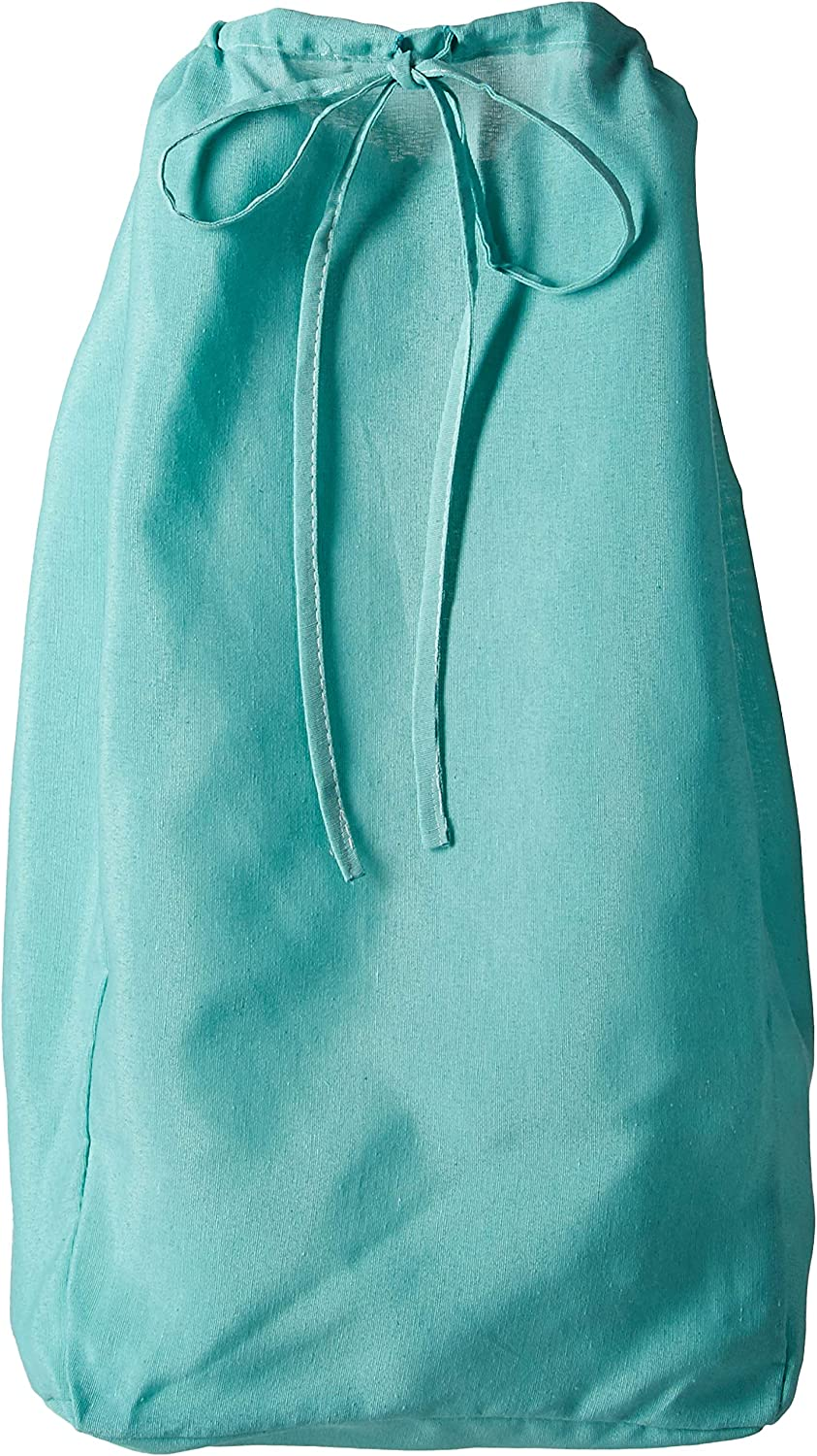 Redmon Rectangular Willow Hamper Cloth Teal Liner
