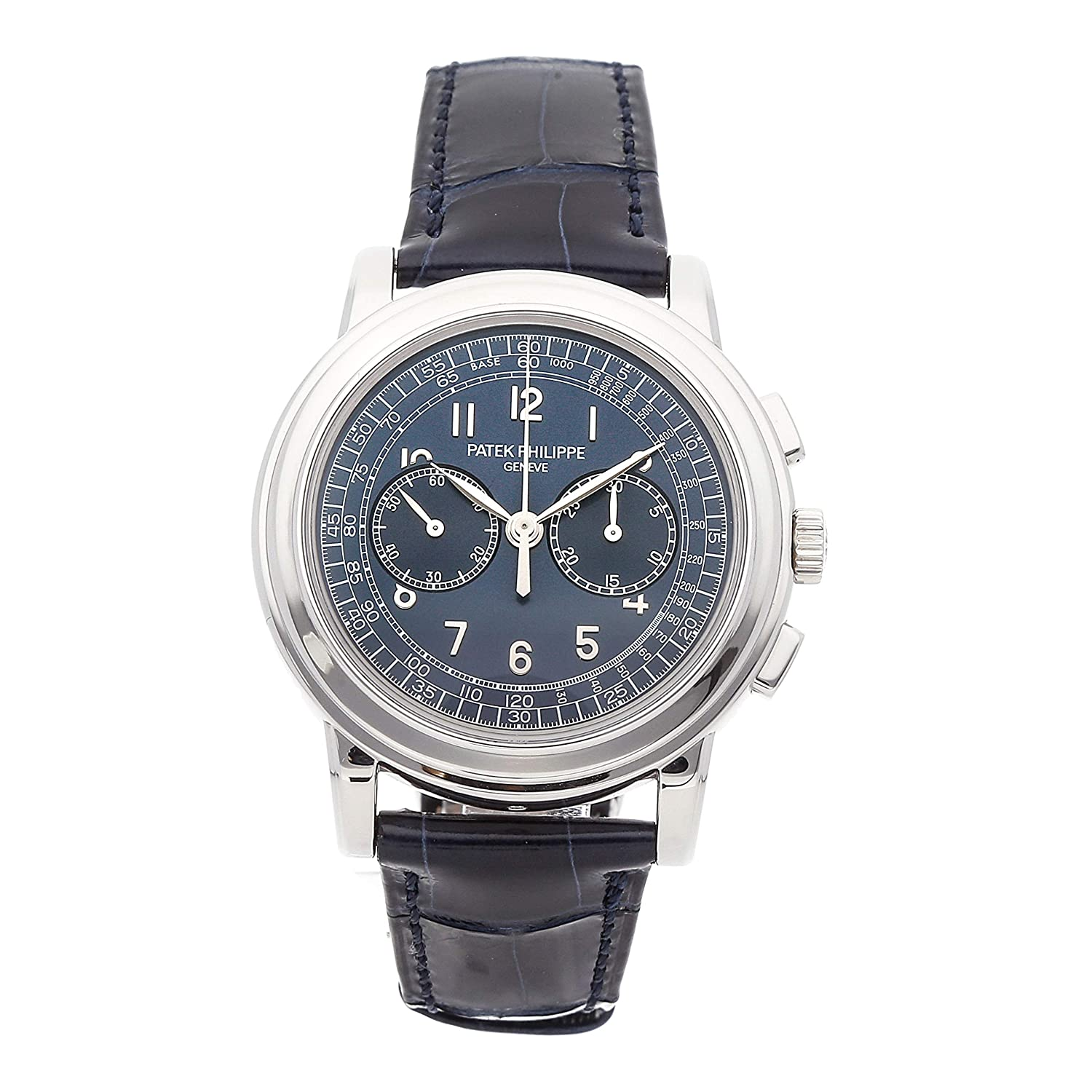 Patek Philippe Complications Mechanical (Hand-Winding) Blue Dial Mens Watch 5070P-001 (Certified Pre-Owned)