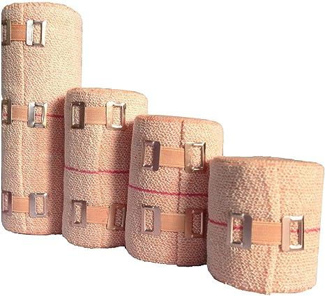 Amazon Com Seth 4 Sizes Soft Compression Crepe Bandages Elastic