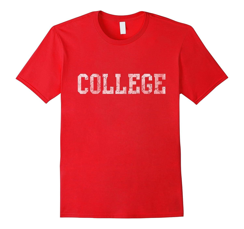 Retro College Funny T Shirt-BN