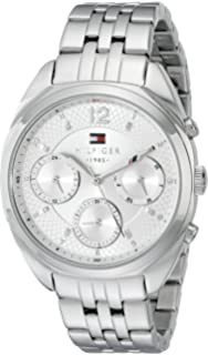 Tommy Hilfiger Womens 1781485 Analog Display Quartz Silver Watch