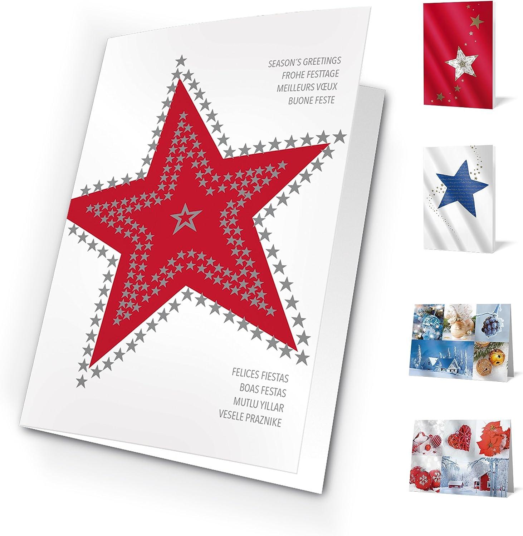 Tarjetas de Navidad Pic a Star. Pack de 10 tarjetas.: Amazon.es ...