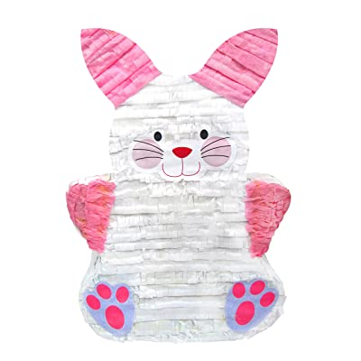 Pinatas Cute Easter Bunny, Easter Party Game Decoration and Photo Prop for Easter Party , Easter or Baby Showers: Toys & Games