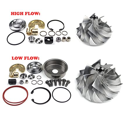 SUPERCELL 08-10 Powerstroke 6.4L Compound Turbo High and Low Pressure Side Billet Compressor