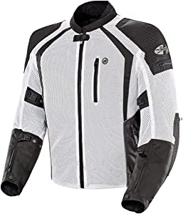 Joe Rocket 1516-4706 Phoenix Ion Men's Mesh Motorcycle Jacket (White, XX-Large)