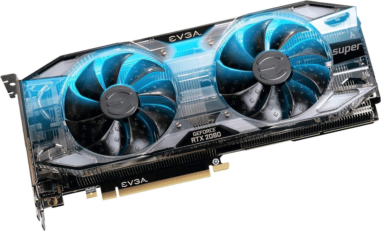 EVGA GeForce RTX 2080 SUPER XC GAMING, 08G-P4-3182-KR, 8GB GDDR6, RGB LED, Metal Backplate