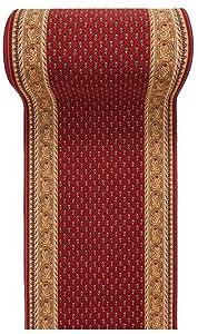 Alfombra De Pasillo Antideslizante - Color Rojo Beige De Diseño Bordura - Mejor Calidad - Diferentes Dimensiones S-XXXL 80 x 300 cm