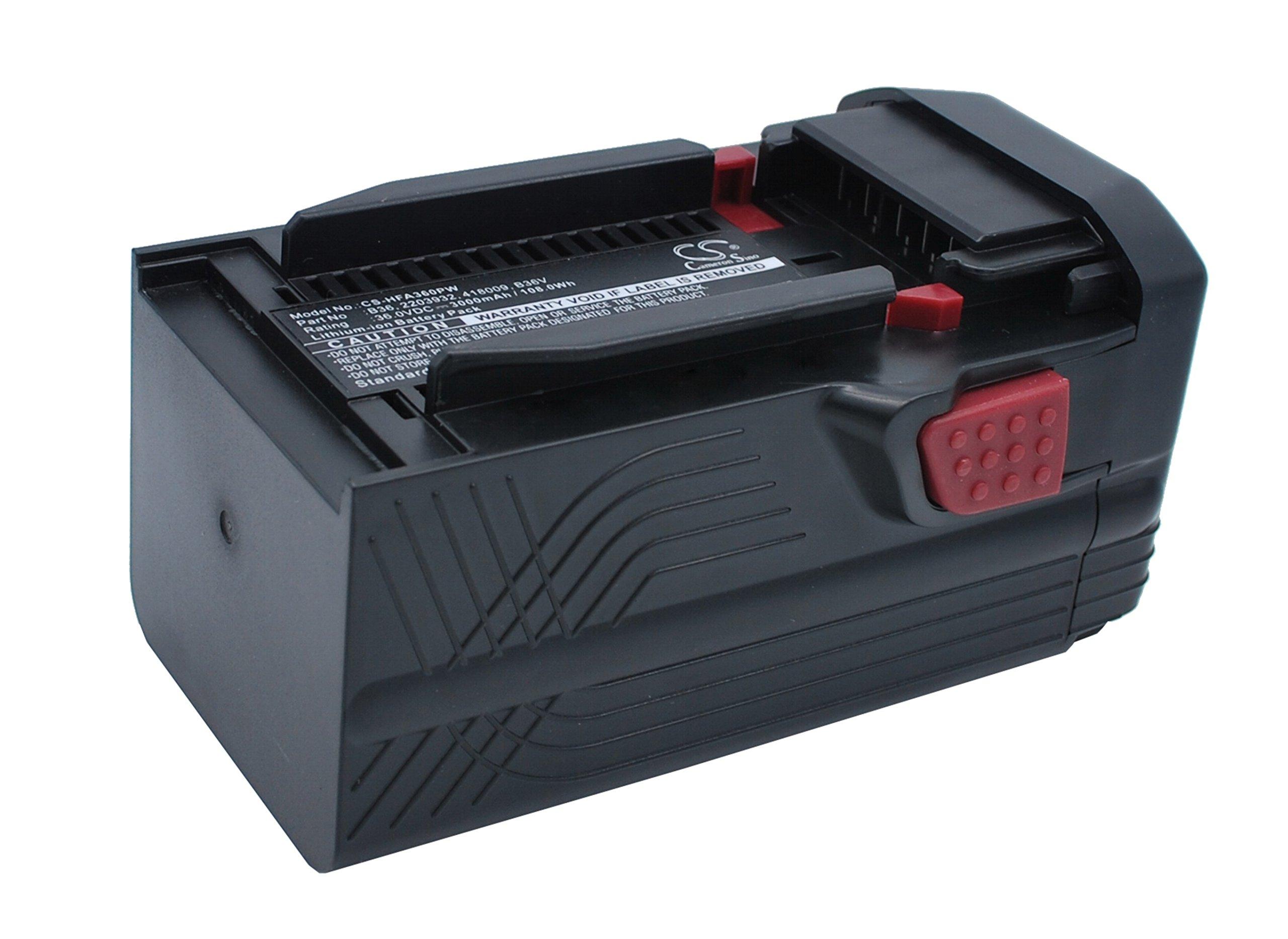 Pearanett 3000mAh / 108.0Wh Battery Compatible With HILTI TE6-A36, TE6-A Li, WSR36-A by Pearanett