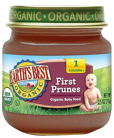 Earth's Best Organic Stage 1 Baby Food, First Prunes, 2.5 oz. Jar