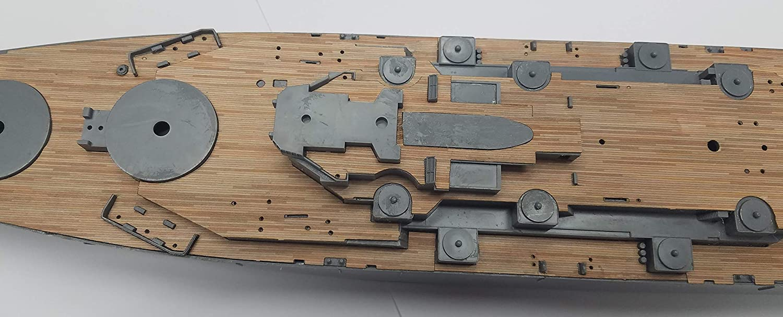 fits Tamiya Kit Premium Wood Deck for 1//350 USS Missouri 1944 in Teak
