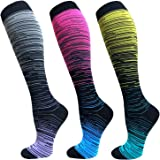 Iseasoo Compression Sock for Women & Men(5-8 Pairs) - Best Medical for Running, Athletic Sports, Crossfit, Fitness