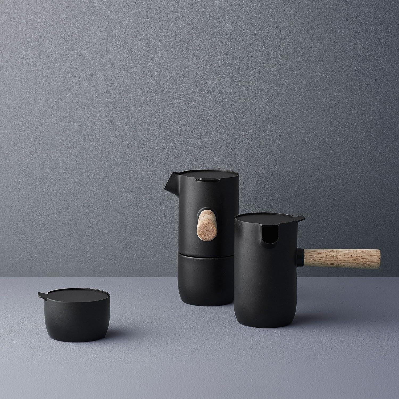Color Negro Cafetera Espresso Stelton Collar Acero, 17,5 x 10,5 x 16,5 cm