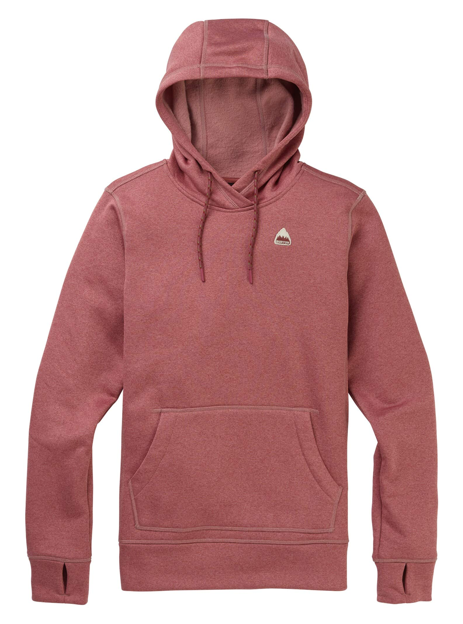 Burton Women's Oak Pullover Hoodie, Rose Brown Heather, XX-Small by Burton