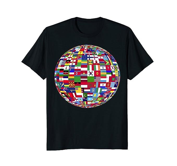 Amazon globe of flags world map atlas tshirt clothing mens globe of flags world map atlas tshirt 2xl black gumiabroncs Image collections
