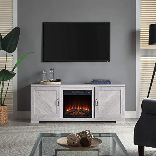 BELLEZE Hilo 58 Inch Fireplace TV Stand Console