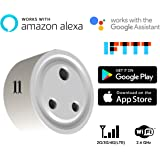 Count_On Wifi Smart Socket Switch Plug,Voice Control,2.4GHz(CO-Smart Socket-TD-S, White)