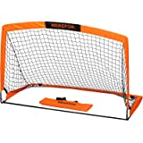WEKEFON Soccer Goal 5' x 3.1' Portable Soccer Net for Backyard Games and Training Goals for Kids and Youth Soccer Practice wi