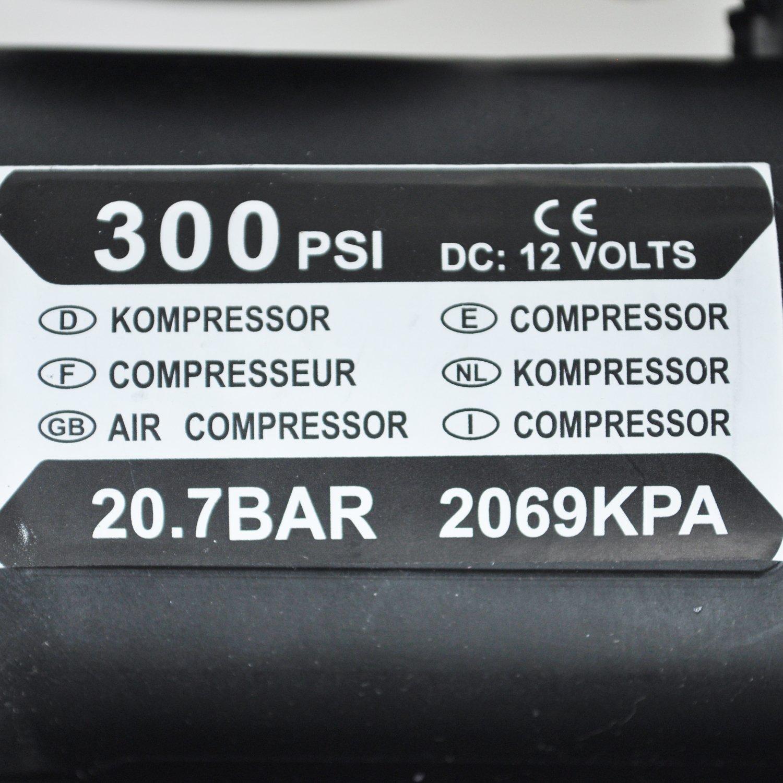 WOVELOT 12v Voiture Auto Pompe Electrique Compresseur dair Portable 300 PSI Gonfleur de Pneu