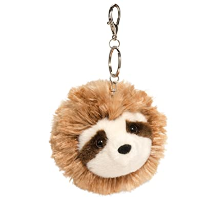 Douglas Sloth Fur Fuzzle Plush Pom Clip: Toys & Games
