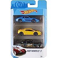 Hot Wheels Üçlü Araba Seti - Geniş Ürün Yelpazesi, Oyuncak Araba Koleksiyonu, 1:64 Ölçek K5904