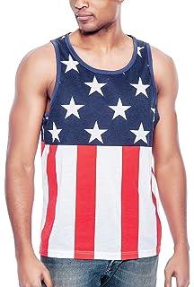 110bd4c6 Enimay Men's Summer American Flag Beach Tank July 4th USA Muscle Shirt