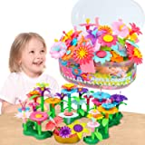 GILI Flower Garden Building Toys, Build a Bouquet Sets for 3, 4, 5, 6 Year Old Toddler Girls, Arts and Crafts for Little…