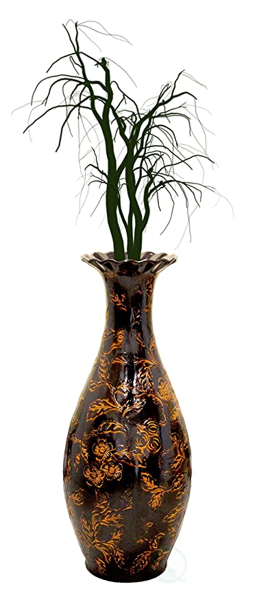 Amazon Traditional Brown Trumpet Shaped Floor Vase 36 Inch