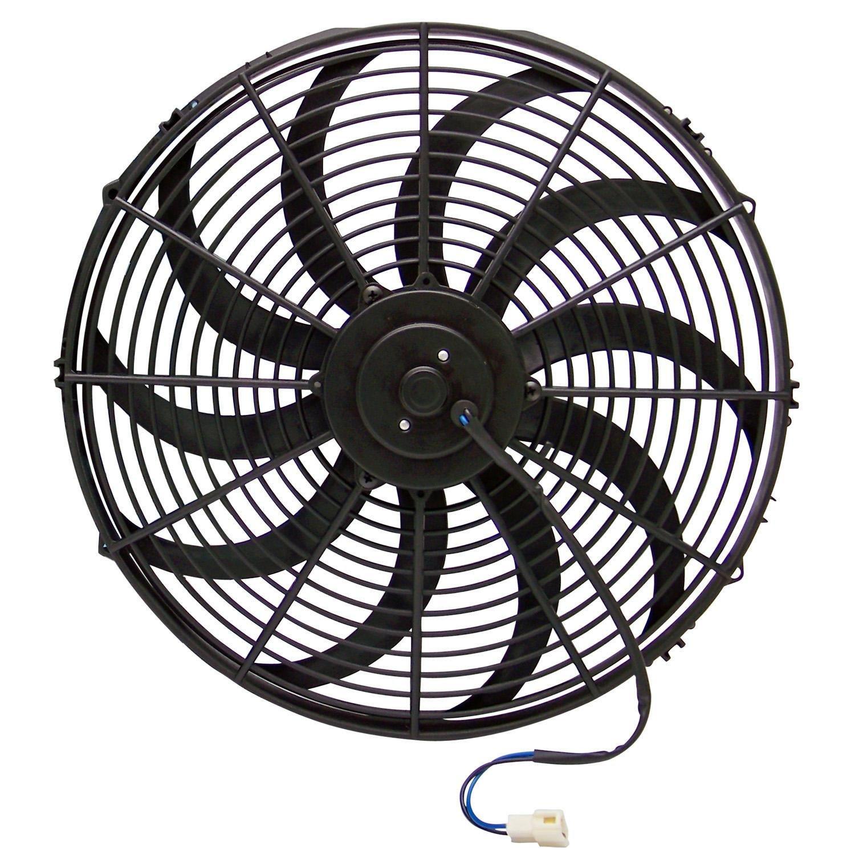 Zirgo 10211 16'' 3000 fCFM High Performance Blu Cooling Fan
