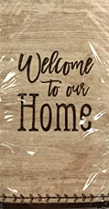 The Grain House Gracious Home Disposable Guest Towel Buffet Hostess Paper Napkins 20 ct - Welcome to Our Home