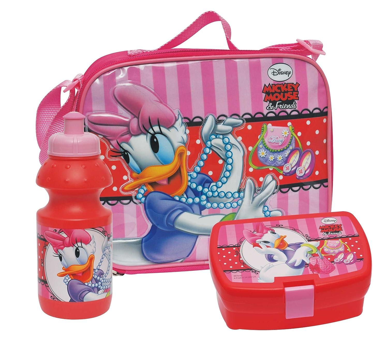 Boite a goûter ou Sandwich + Gourde + Sac enfant Fille Daisy Mickey Disney Lunch Pique Nique cartoons4you