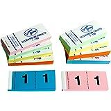 Lot de 10 carnets de tickets pour tombola/vestiaire/loterie 5 couleurs