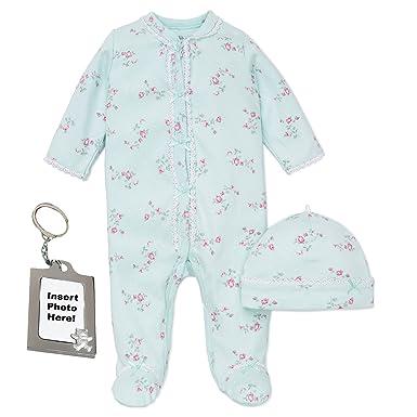 485761ad2 Amazon.com  Little Me Footie Baby Girls Footed Sleeper Sleep N Play ...