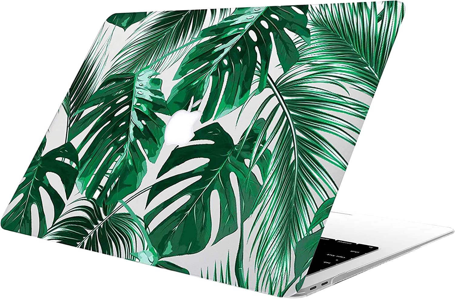 AOGGY MacBook Air 13 Case Model: A1369/A1466 (2017-2010 Version) - Protective Hard Case, Soft Touch Plastic Rubber Coated Shell Cover for MacBook Air 13 - Tropical Palms Leaves 09