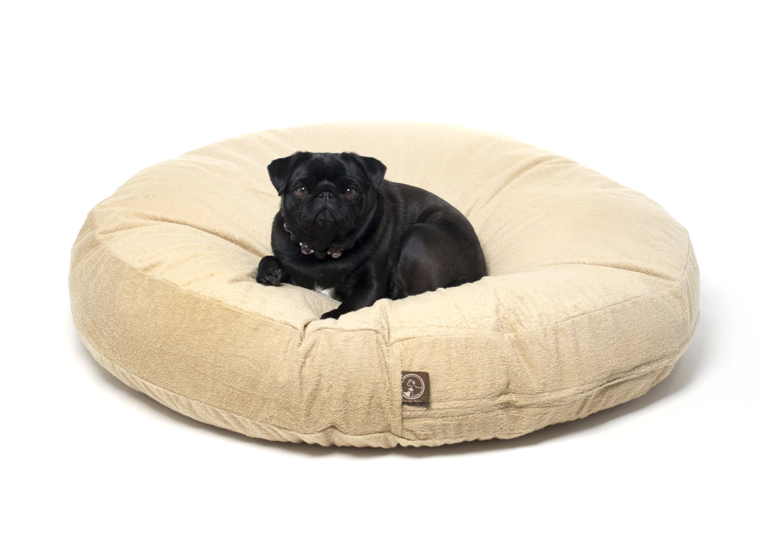 One For Pets Piddle-Proof Dog Bed Protector No More Accidents - Tan, 36'' Round x 5'' tall