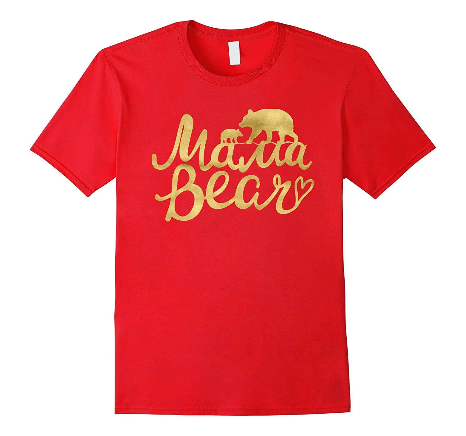 Mama Bear | Vintage Mom Birthday & Mother's Day T-Shirt Gift-ah my shirt one gift