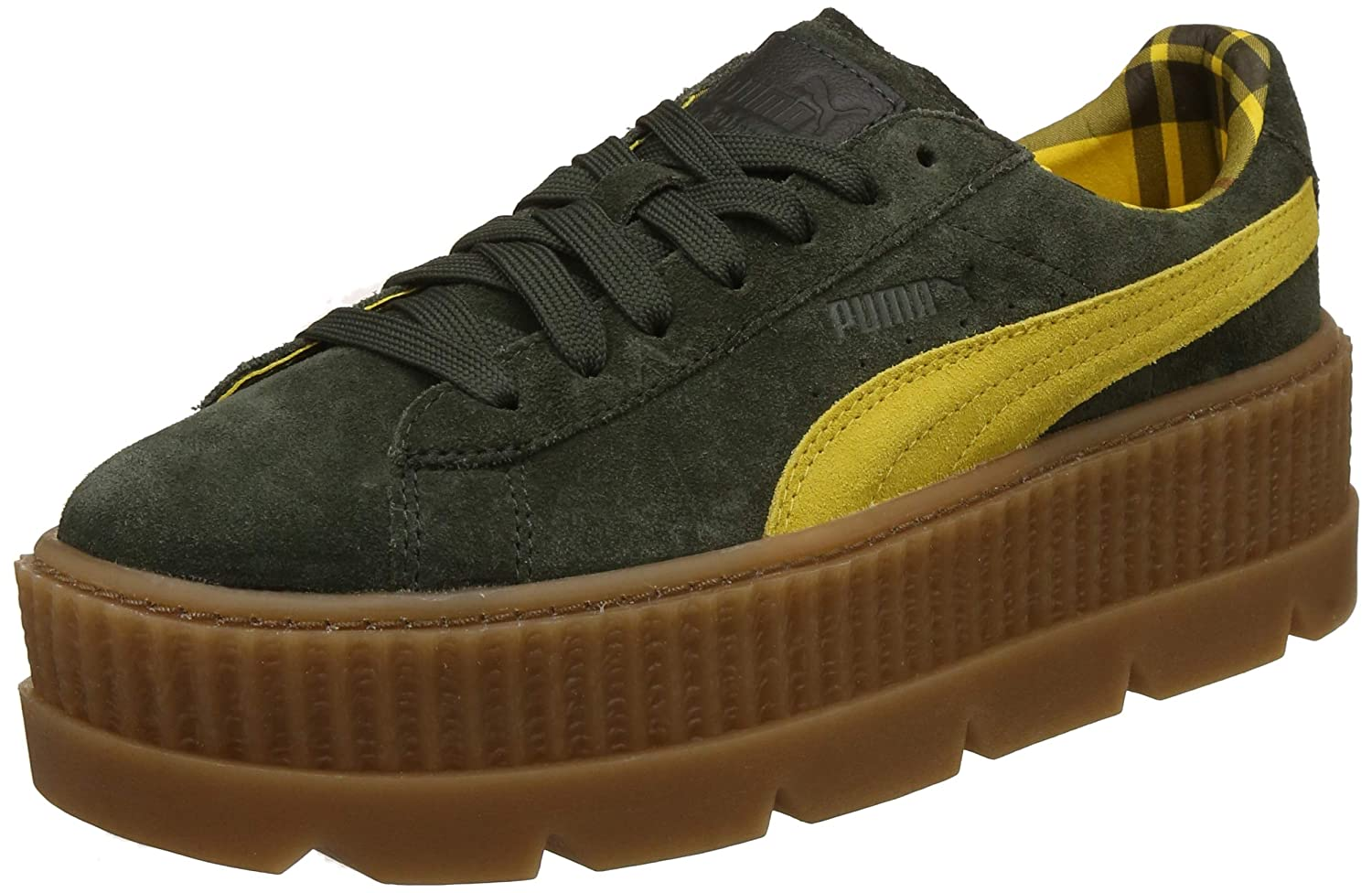 Puma Cleated CreeperSuede W 801 Damen Turnschuhe (ROSIN-LEMON-VANILLA ICE)