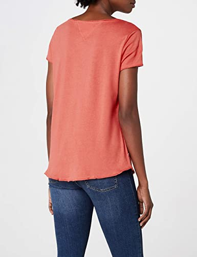 Tommy Hilfiger Soft Jersey Camiseta, Rosa (Spiced Coral 689), X ...