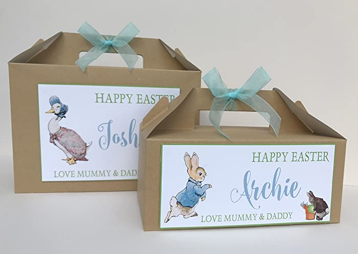 Personalised childrens easter egg gift box egg hunt party treat personalised childrens easter egg gift box egg hunt party treat box peter rabbit negle Images