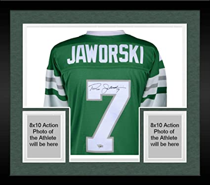 178d04247a9 Framed Ron Jaworski Philadelphia Eagles Autographed Green Mitchell & Ness  Replica Jersey - Fanatics Authentic Certified