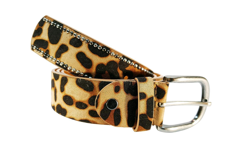 Cinturon tachuelas mujer leopardo cuero piel animal print 1afee10b7f56