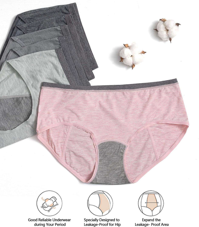 HBselect Bragas Mujer Altas Pack 6 Algod/ón C/ómodo y Respirable Bragas para Mujer