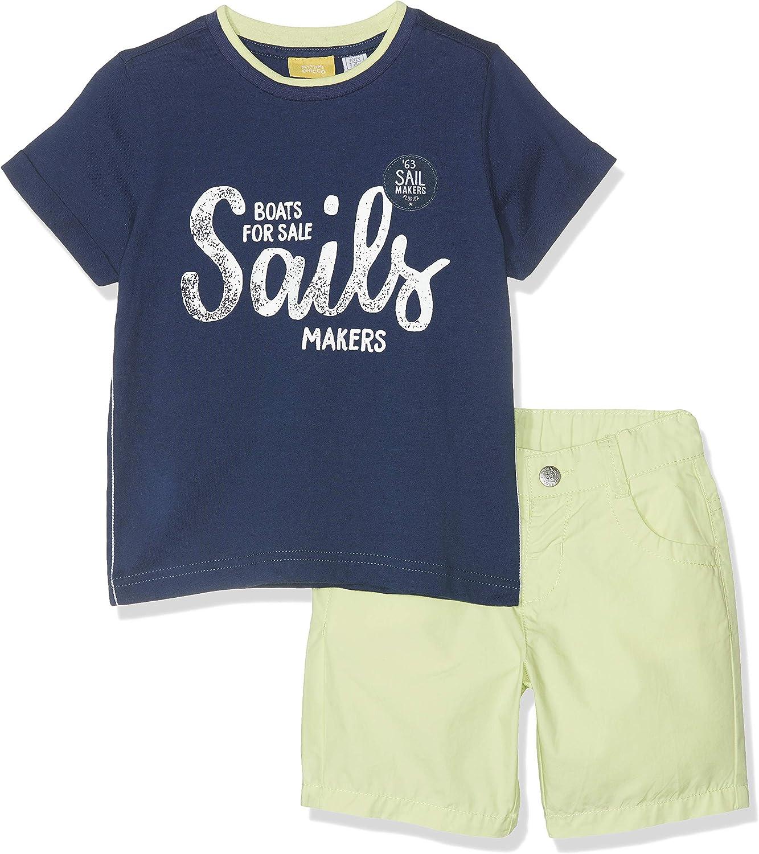 Pantaloncini Bambino Chicco Completo T-Shirt Manica Corta