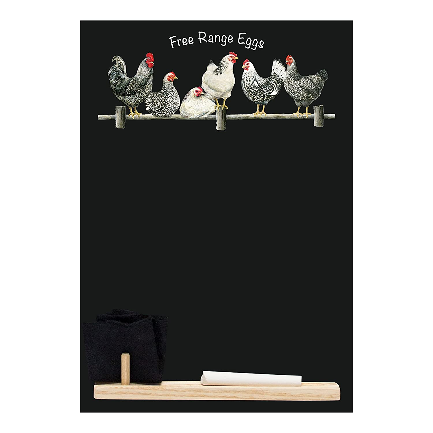 Chalkboards UK Small Memo Board/Chalkboard/Blackboard/Kitchen chalk Board with Printed Bake It Artwork, Wooden Tray, Piece of chalk & Felt Eraser. Booth Design Range., Wood, Black, 29.7 x 20.7 x 1 cm Porter & Woodman HCB003