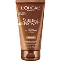 L'Oreal Paris Sublime Bronze Tinted Self-Tanning Lotion, Medium Natural Tan, 5 fl. oz.