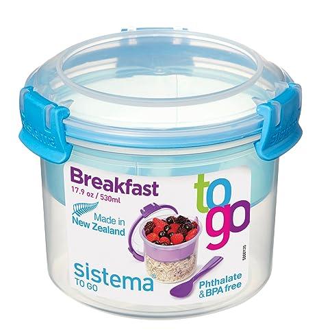 Sistema To Go Frühstücksbehälter kompakt, 530 ml, transparent/blau