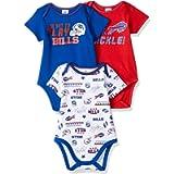NFL Baby-Boy 3 Pack Short Sleeve Variety Bodysuit